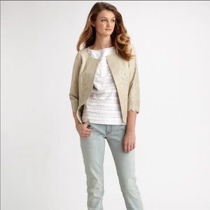 Tory Burch Pearson Laser Perforated Leather Jacket